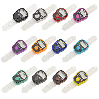 LED Digital Finger Ring Tally Row Counter Glow In The Night Portable Sports New