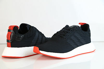 newest 86f4a a9ec7 ADIDAS NMD R2 PK Black Red BA7252 8-13 boost nomad prime knit ultra 1