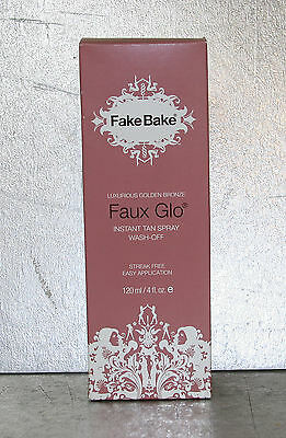 "Fake Bake Golden Bronze ""Faux Glo"" Instant Tan Spray Wash-Off 120ml X1 Unit"