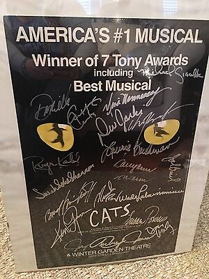 """CATS"" The Broadway Musical - Poster Signed by Cast Members"