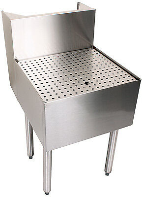 Glastender C-BD-18 Stainless Steel Back Bar Beer Drainer 18""