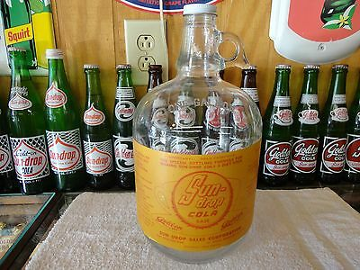 Sundrop Diet Soda Fountain Syrup Paper Label 1 Gal Jug