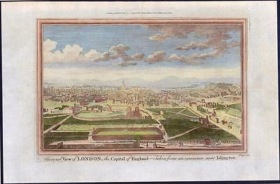 c1784 Original Antique Print - VIEW OF LONDON from near ISLINGTON