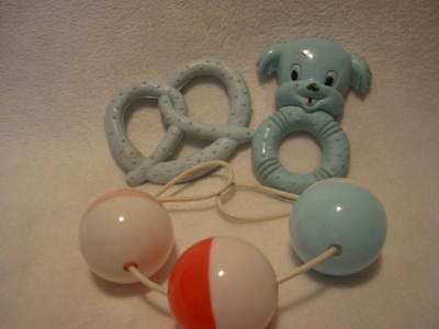 Vintage Baby Rattle For Stroller And Teething Toys 1968