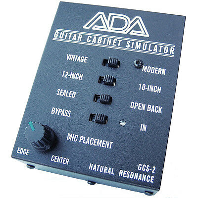 ADA GCS-2 Analog Guitar Cabinet Simulator DI Box w/ Microphone Placement Control