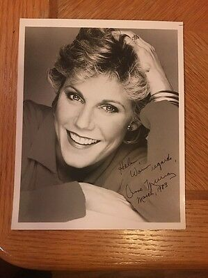 Anne Murray Signed, Inscribed & Dated Portrait 8X10 photo Country Singer Auto