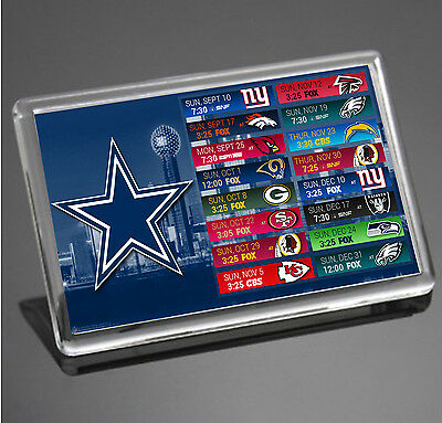 Dallas Cowboys 2017 Schedule NFL JUMBO SIZE Fridge Magnet