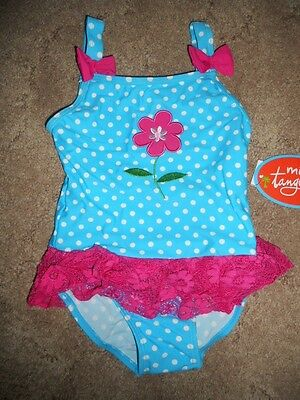 Mini Tangerine Toddler Girls One Piece Swimsuit Bathing Suit 24 months or 4T NWT