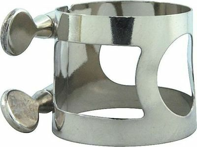 Tenor Sax Generic Ligature Nickel Plated Silver MADE IN USA - FREE POSTAGE IN AU