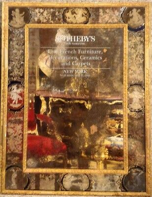 Sotheby's Fine French Furniture, Decorations, Ceramics and Carpets, New York