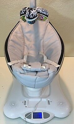 4moms, mamaRoo, Baby Swing, Grey Classic, Bluetooth capability, Auxiliary port