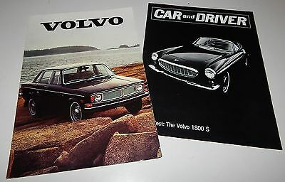 Vintage 1970 Volvo 140 164 1800 1800E Series Brochure 1800S Road Test