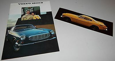 Vintage 1969 Volvo 1800 S Series Prestige Brochure 1800 E Post Card 1800S 1800E