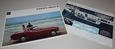 Vintage 1966 Volvo 1800 S Series Brochure 1800S FrigiKing Air Conditioning Spec