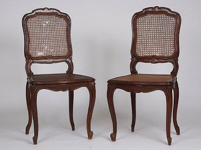 RARE Pair of Antique 18th Century French Regency Carved Chairs