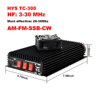 HYS TC-300 HF Power Amplifier 3-30Mhz AM FM SSB Amplifier For Handheld CB Radio
