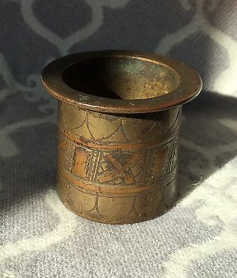 Antique Old Handcrafted Islamic Metalwork Holy Water Pot