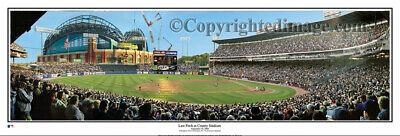 Milwaukee Brewers Last Pitch County Stadium 2000 Unframed Panoramic Poster #2080