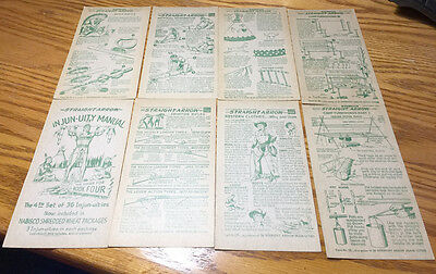 Lot of 8 Diff 1950s NABISCO Cereal Straight Arrow INJUN-UITY Cards - Lot 025