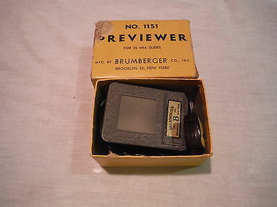 VINTAGE Brumberger Viewer, Model #1151 35mm Slide  Previewer