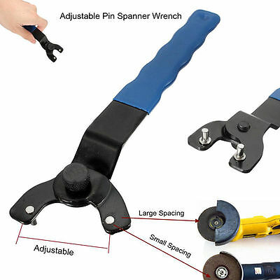 Adjustable Pin Spanner Wrench For Angle Grinder 8mm~50mm Hubs Arbors Heavy Duty