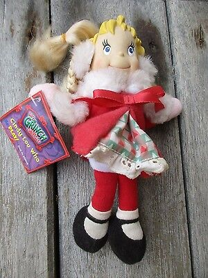 """How The Grinch Stole Christmas CINDY LOU WHO PLAY! 7"""" Doll w/Tag No Box Rare"""