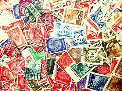 Lot of 5 Rare Very Old German Stamp Collection from Word War 2 Era