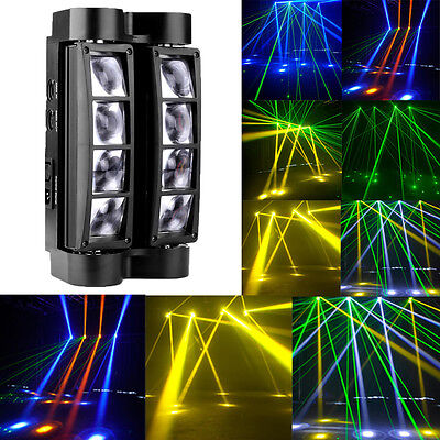 8x10W RGBW LED Spider Beam Moving Head Stage Light DMX DJ Disco Party Lighting