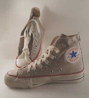 43ac17d44f2cab Vintage Converse All Star Chuck Taylor Kids High Tops Grey Made In Usa 3.5