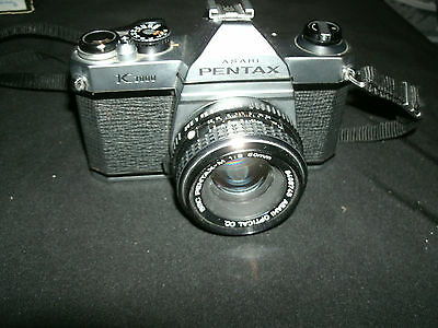 Pentax K1000 with Pentax-M 1:2 50mm *UNTESTED/READ*