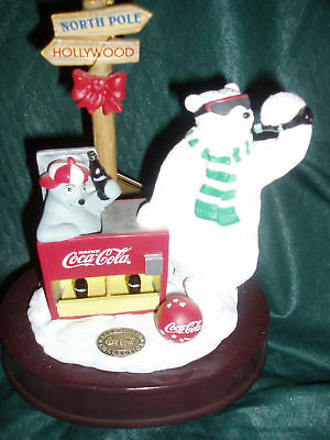 New~COOL TREATS Coca-Cola Wind-Up Musical~House of Lloyd~Home Interior