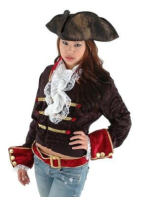 Scallywag Tricorn Costume Pirate Hat Adult One Size