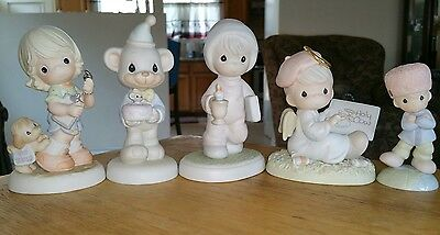 precious moments Lot of 5 figures featuring Loves Russian Into My Heart