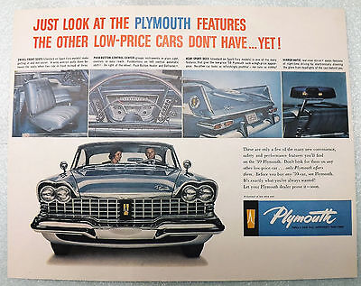 1959 Plymouth photo vintage print ad