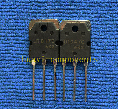 5pairs or 10pcs 2SB817C/2SD1047C 2SB817/2SD1047 B817C/D1047C Transistor TO-3P