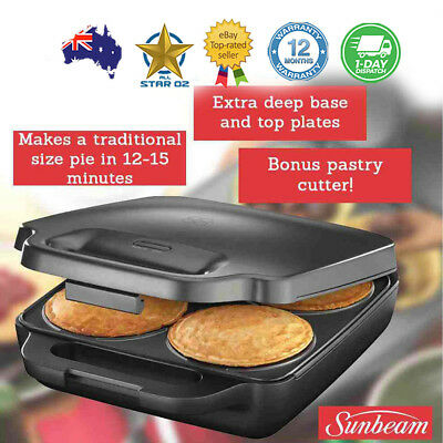 Pie Maker Traditional Size 4 Pie Snack Cooker Iron Machine Non Stick Plates