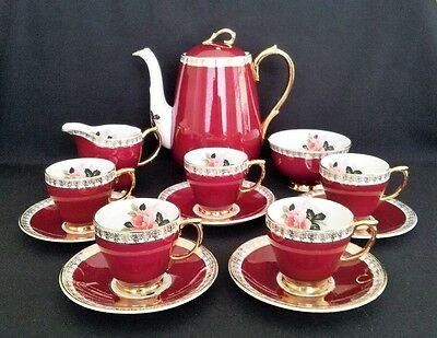 Vintage Windsor Bone China 13Pc Coffee Set