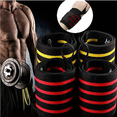 2pcs Wrist Strap Band Bodybuilding Weight Lifting Crossfit Support Powerlifting