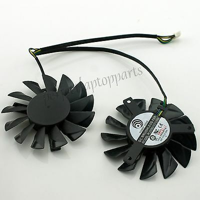 1Pcs *New* For MSI HD7850 R7950 HD7950 HD7870 DC12V 4pin Video Card Dual Fan L+R
