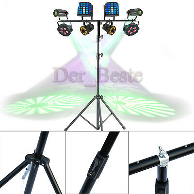 3M Adjustable T bar Lighting Heavy Duty Stand DJ Disco 8 Light T-Bar Stand UK DE