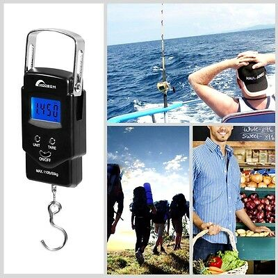Electronic Hanging Digital Scale Balance LCD Luggage Weighing Fish Hook Portable