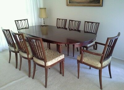 Dining table expandable with 6+2 chairs