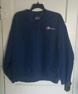 PEPSI Delivery Driver Employee ARAMARK Pullover Jacket Windbreaker Mens Large