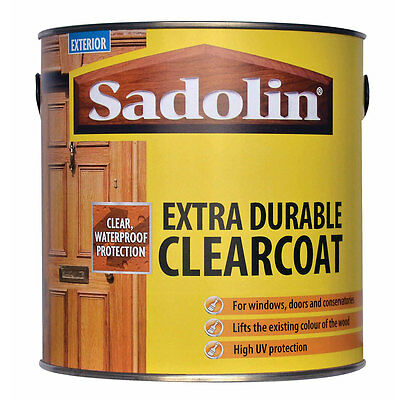 Sadolin Clearcoat 2.5 litre Exterior Clear Varnish Satin or Gloss 2.5L