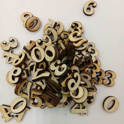100 Pcs Mixed Wood Letters Numbers Button Diy Craft Sewing Scrapbooking Useful