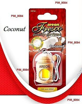 Parfume Air Freshener AREON Fresco COCONUT Car and Home Scent *NEW*