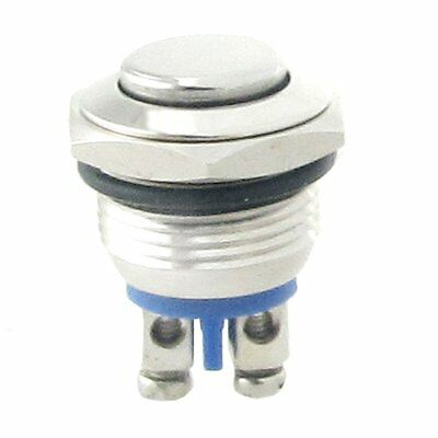 Normally Open NO N/O 16mm Metal Momentary Round Push Button Switch BF