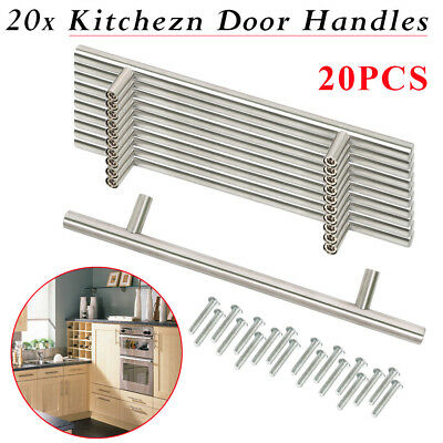 20 X Stainless Steel Kitchen Cabinet Door Drawer Handles Handle TBar T Bar Pulls