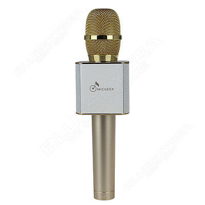 Original MicGeek Q9 Microphone Bluetooth Karaoke USB Play For iPhone 6 7 Samsung