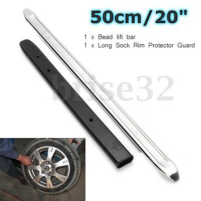 20'' Bead Lifting Tool 13'' Pry Bar W/ Sock Rim Protector Guard For Tire Changer